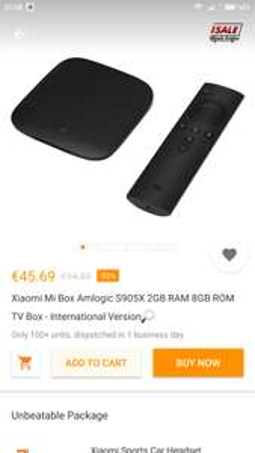 ORIGINAL Xiaomi Mi Box S905X