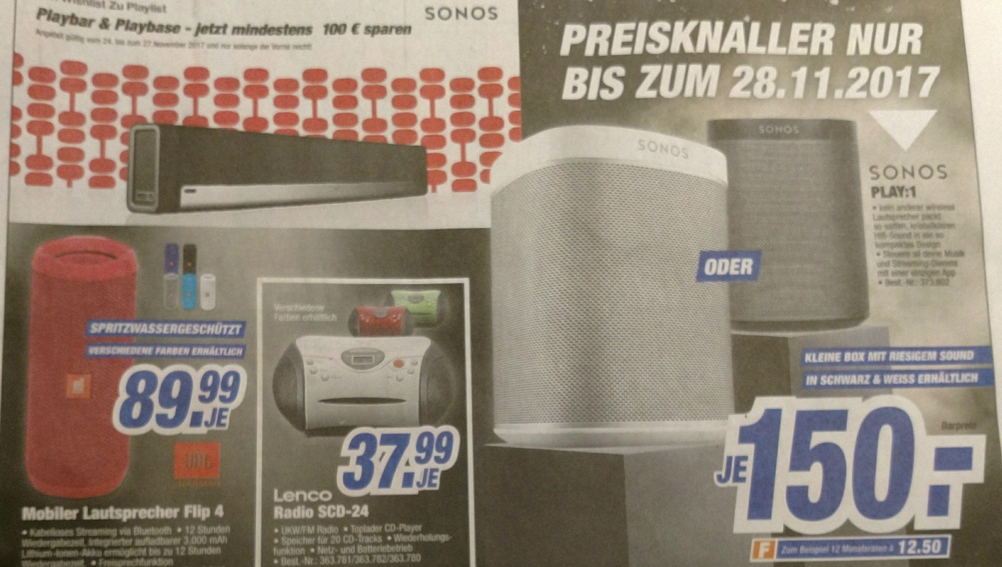 Sonos Play 1 für 150€ - lokaler Deal Neumarkt OPf