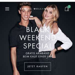 Daniel Wellington Black Friday Deal - Gratis Armband