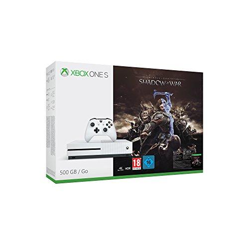 Xbox One S (500GB) + Mittelerde: Schatten des Krieges (Xbox One/PC Digital Code Play Anywhere) für 169,99€ (Amazon)