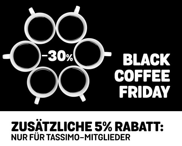 [Tassimo] 30% Rabatt bei 40 € MBW durch Code C-BLACK472017 = 3,49€/Packung