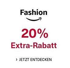 20% Rabatt auf ca. 370.000 Fashion Artikel [Amazon]