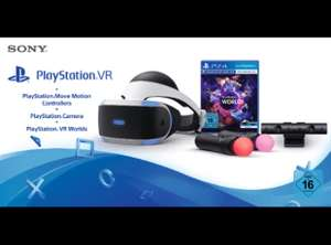 SONY PlayStation VR + Move Motion Controllers + Camera + VR Worlds + Skyrim