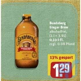 0,33l Bundaberg Ginger Brew Glasflasche @Rewe City (+Coupies)
