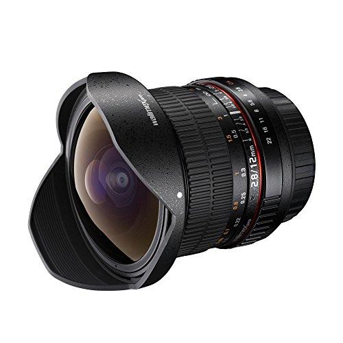 [amazon]  Walimex Pro 12 mm 1:2,8 Fish-Eye Objektiv (manueller Fokus, IF, Nano Coating System, mit abnehmbarer Gegenlichtblende) für Canon EF / Nikon F in schwarz