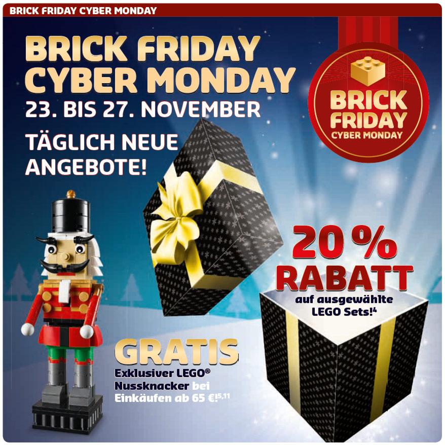 Lego Brick Friday - 20% auf ausgewählte Sets, u.a. Steine Bank für 119,99€