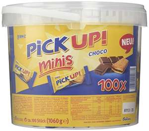 [Amazon - Sparabo] Leibniz PiCK UP! Minis Choco Vorteilsbox 1er Pack — Mini-Butterkekse mit Schokolade — Schoko-Kekse einzeln verpackt — Schokoladenkekse Großpackung (1 x 1.06 kg) 9,83 €
