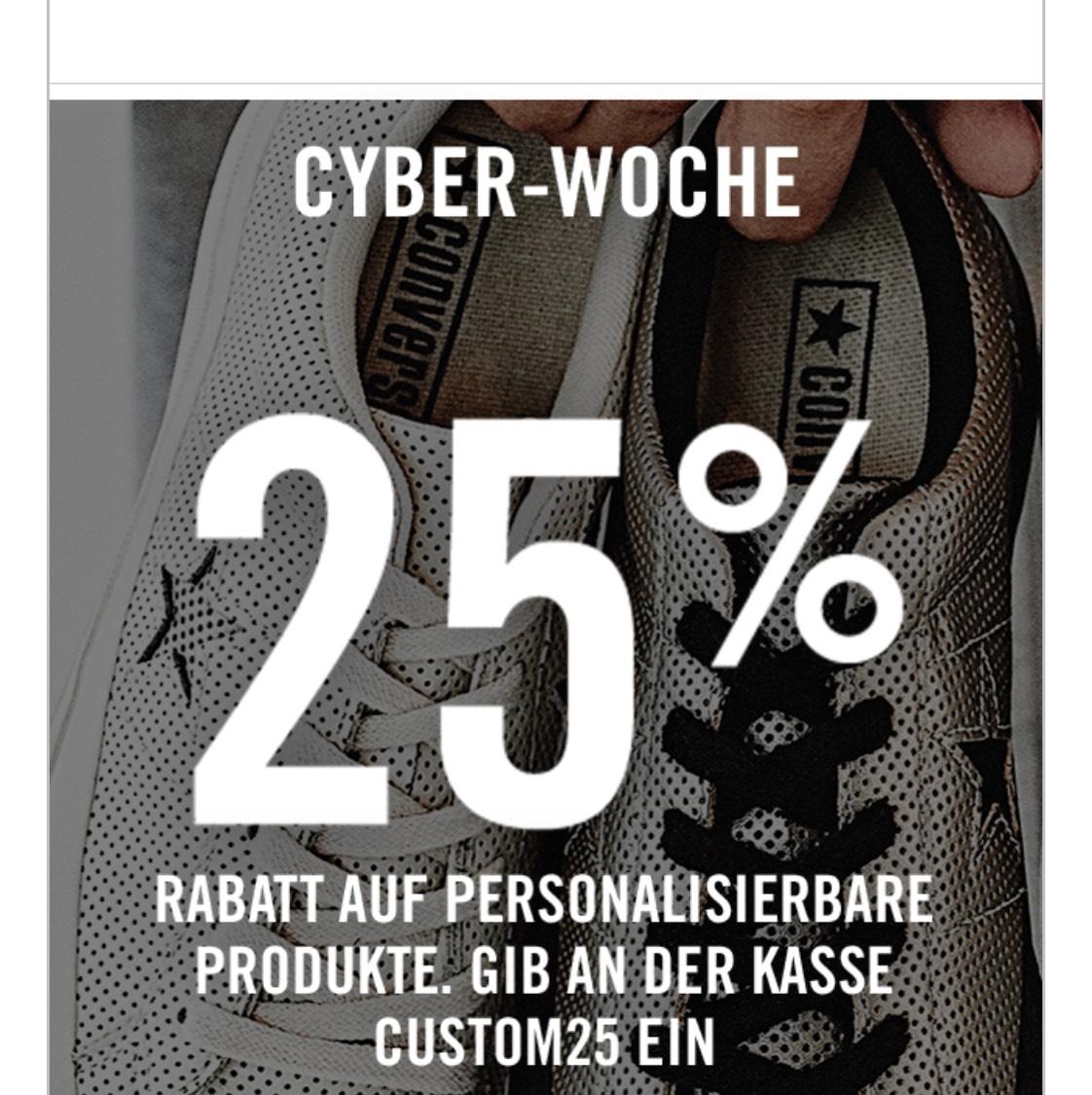Converse 25% Rabatt auf Personalisierbare Produkte