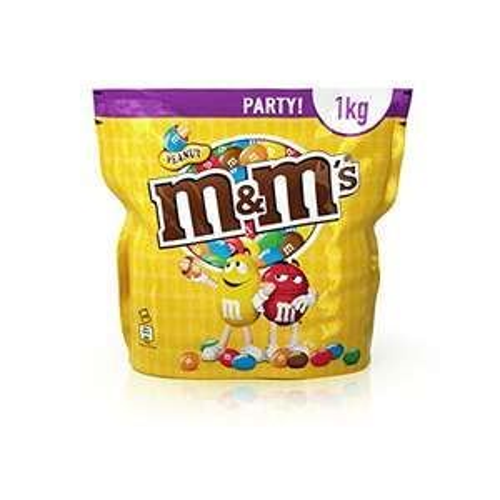 M&M'S Peanut / Geröstete Erdnüsse ummantelt von Milchschokolade / 1 x 1kg Beutel [Amazon Prime]