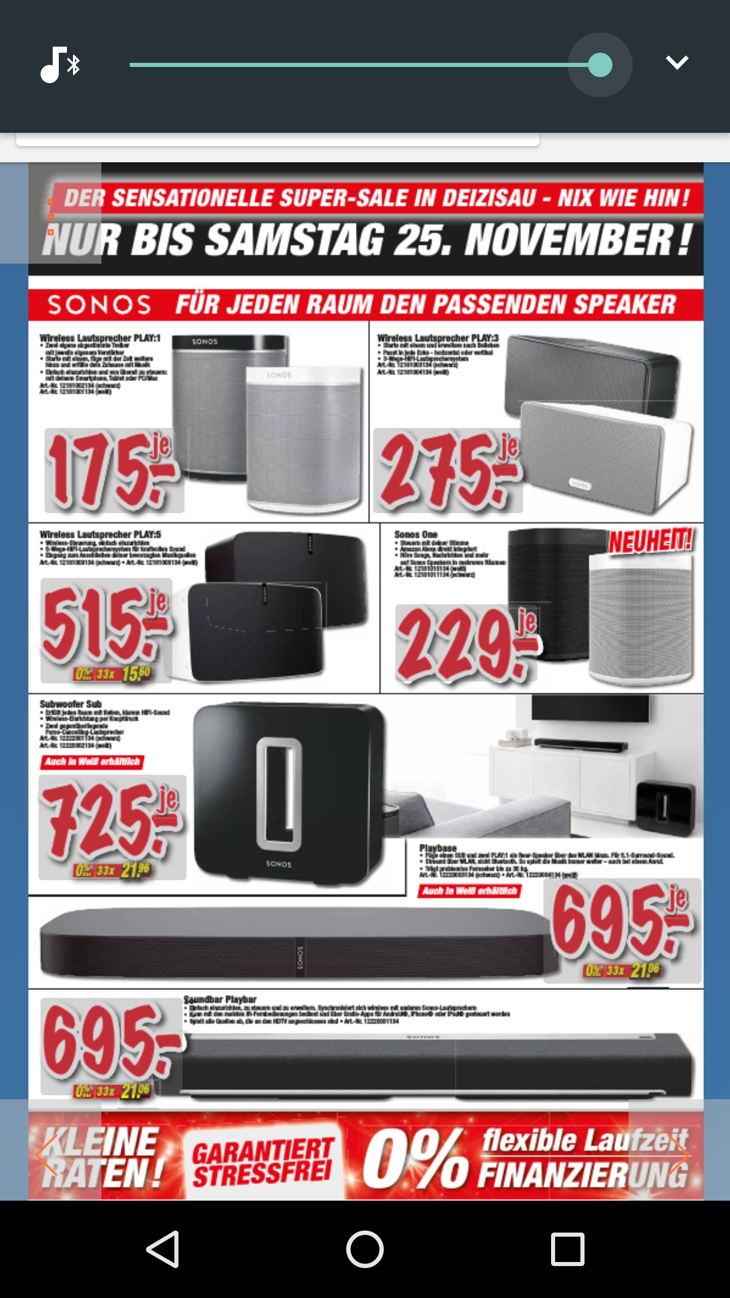 Sonos Lokal (Technoland bei Esslingen )