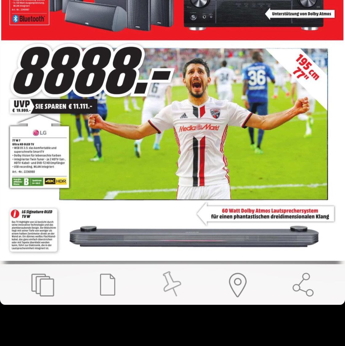 [MM Heilbronn] LG Signature W7V OLED 77W7V (77 Zoll) Fernseher