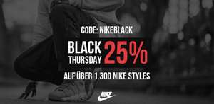 Black Friday (+ Thursday) Week Sale bei Kickz - 25% auf über 1300 Nike Style