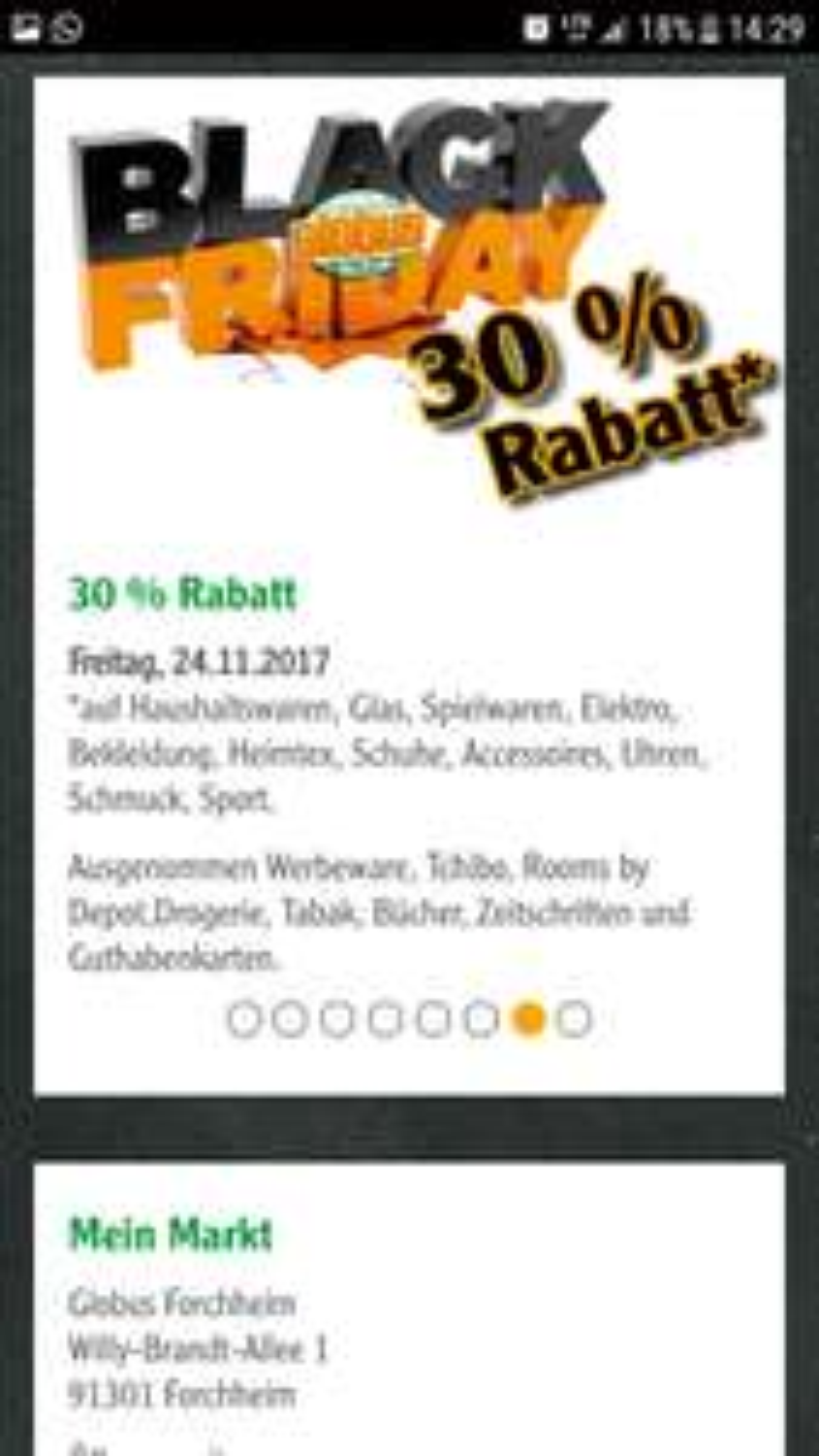 30 % bei Globus u.a. in Forchheim