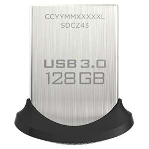 SanDisk Ultra Fit 128GB USB 3.0 Flash Drive (SDCZ43-128G-GAM46) [Neueste Version]