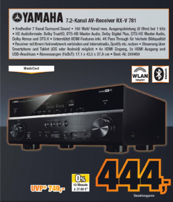 [Expert Bening] Yamaha RX-V781 - 7.2 Kanal AV-Receiver; 3D Sound HDCP 2.2 MusicCast