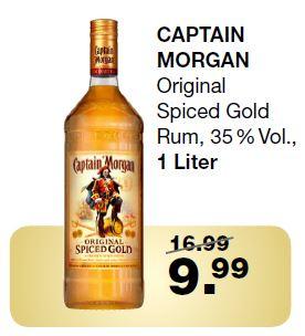 Ringeltaube: Captain Morgan 1l / Hendrick's Gin 1,75l / Gordons Gin 1l / Jack Daniels 3l