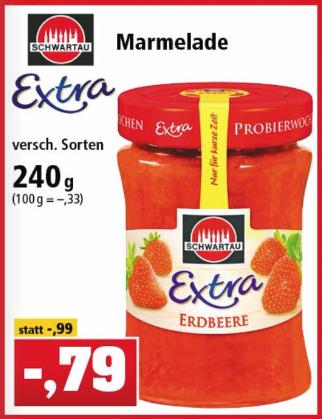 [Thomas Philipps] Schwartau Extra 240g für nur 0,79€