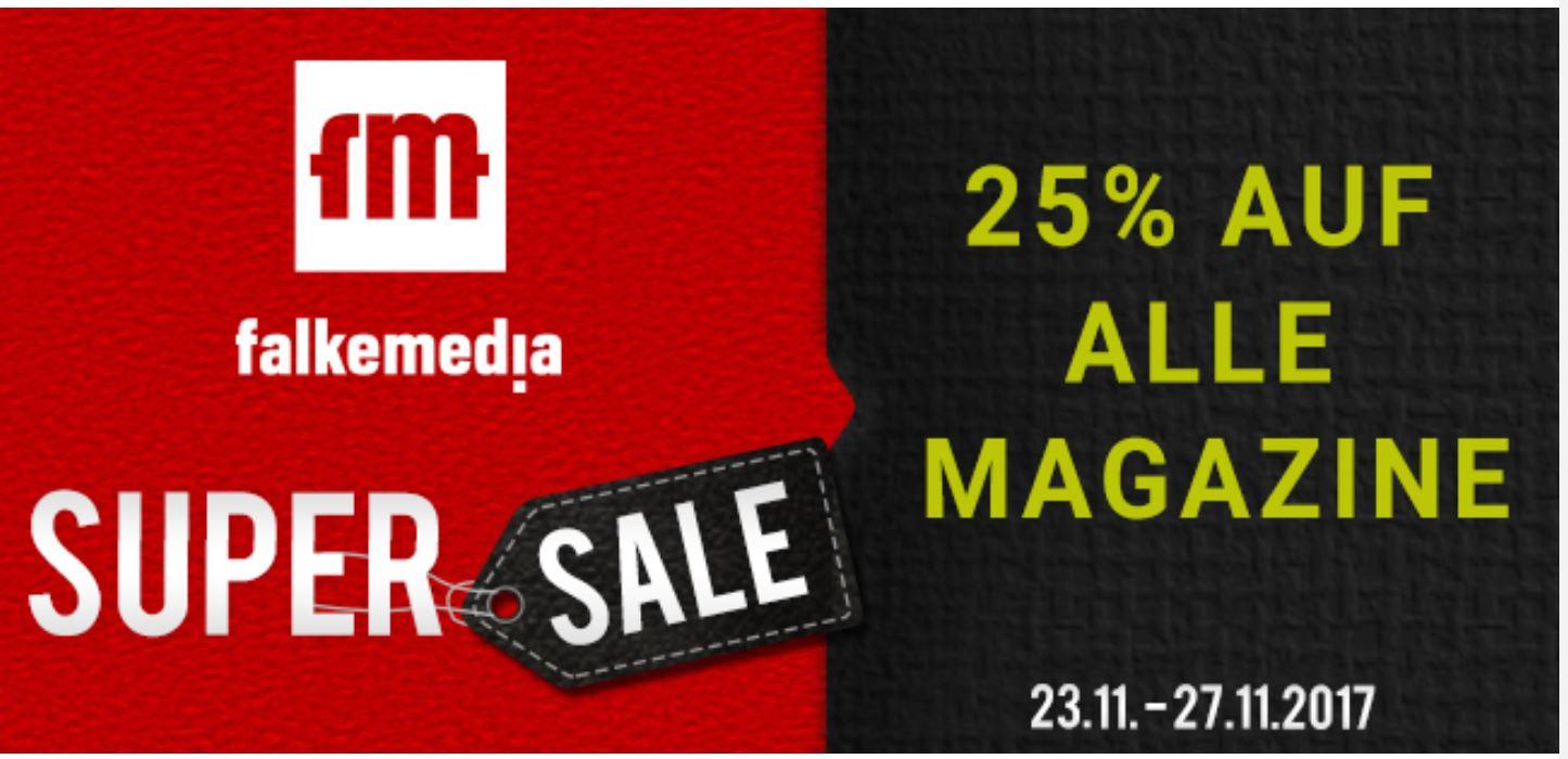 25 % Rabatt im großen falkemedia SUPER SALE!