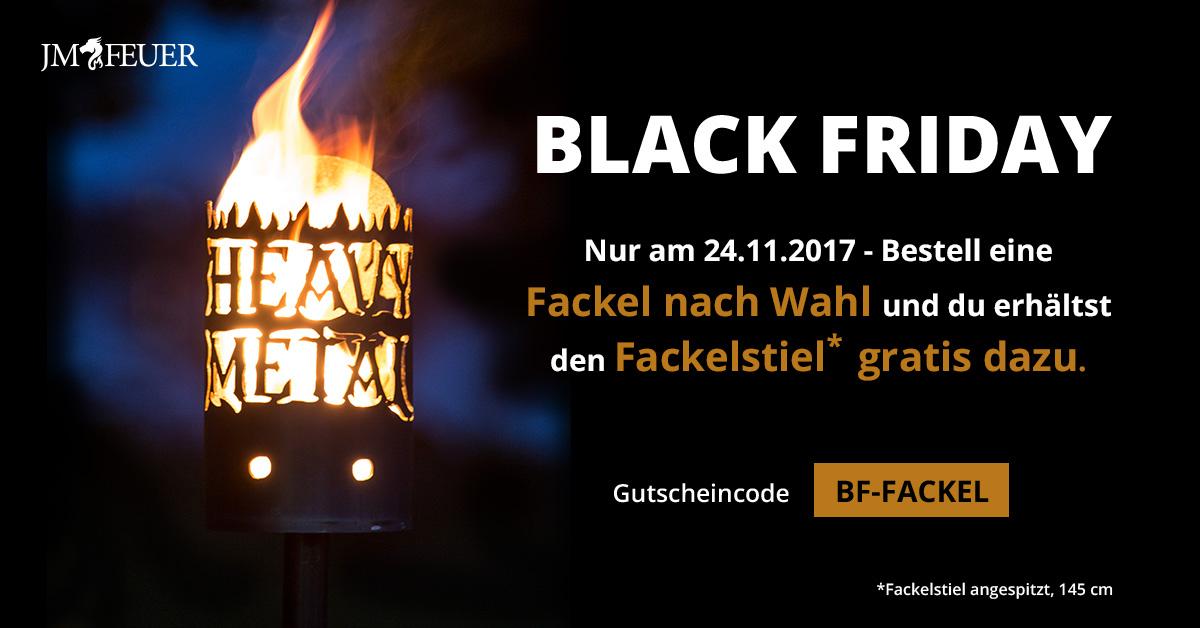 Gratis Fackelstiel (Wert: 6,99 €) beim Kauf einer Gartenfackel am BlackFriday