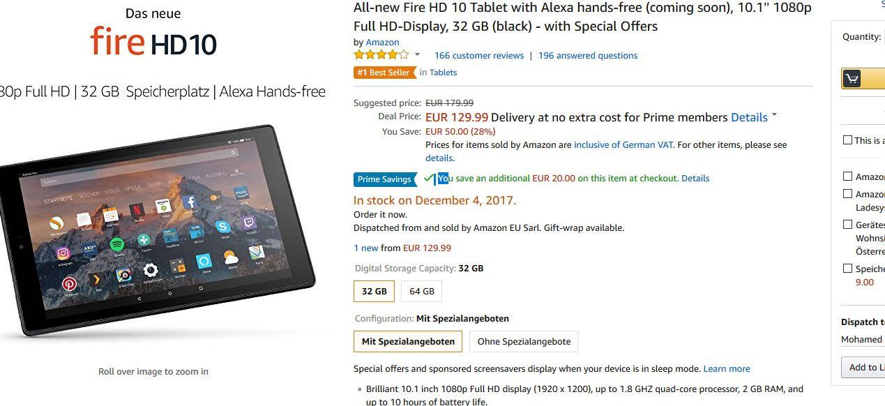 New Amazon tablet