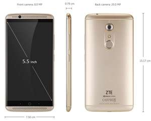 ZTE AXON 7 64GB Rom /4GB Ram Gold Global Version [Gearbest]