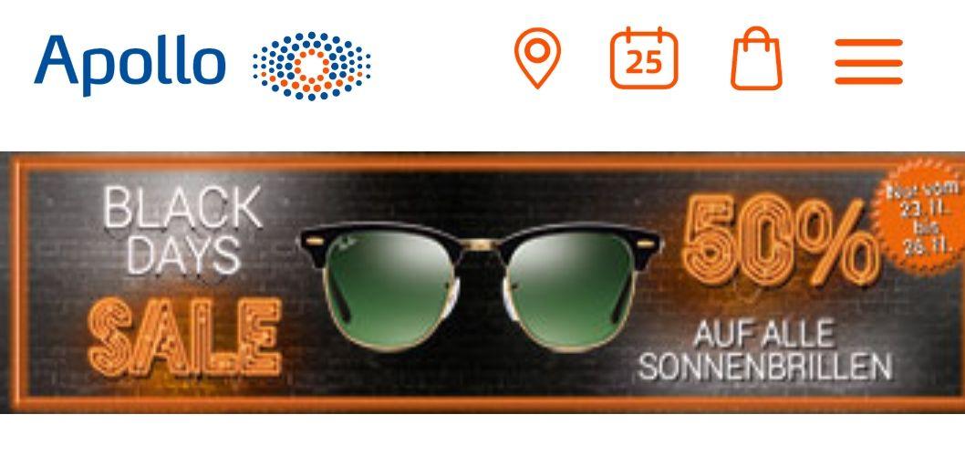 50% auf Sonnenbrillen @ Apollo Optik on- und offline