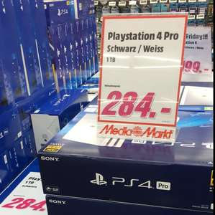 [MediaMarkt Berlin-Spandau] PS4 Pro Konsole 1TB Schwarz o. Weiß