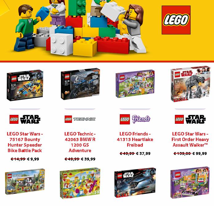 LEGO Angebote mit bis zu 50 Prozent Rabatt bei Müller