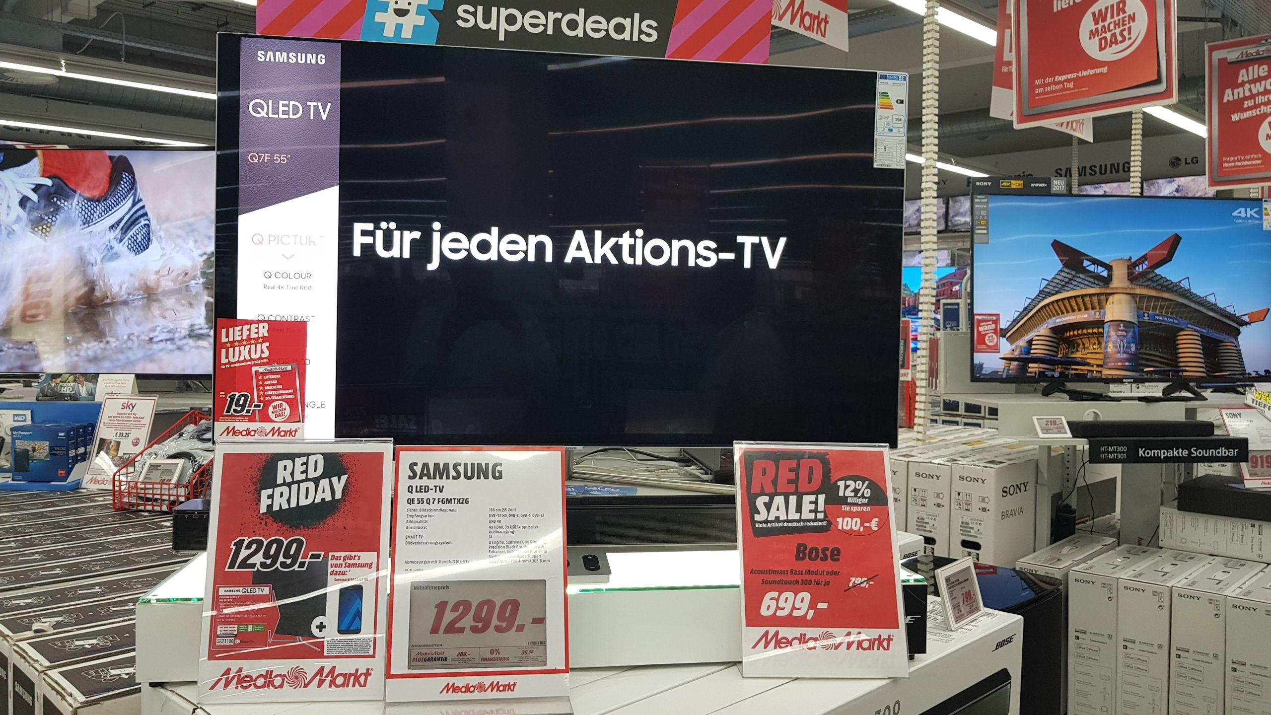 [ Lokal Media Markt Paderborn ] Samsung QE55Q7F + Samsung Galaxy A5 für 1299 ohne registrieren, dirket Mitnahme