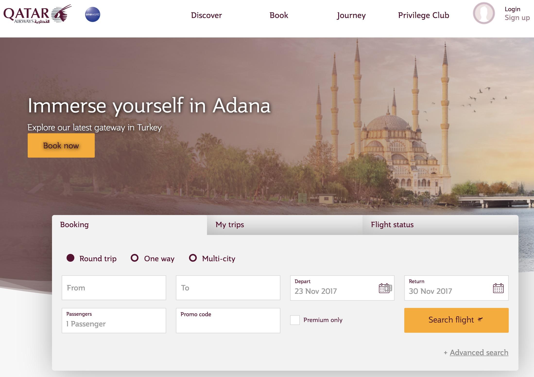 Mit Gutschein bis zu 10% Rabatt auf Flüge bei Qatar Airways