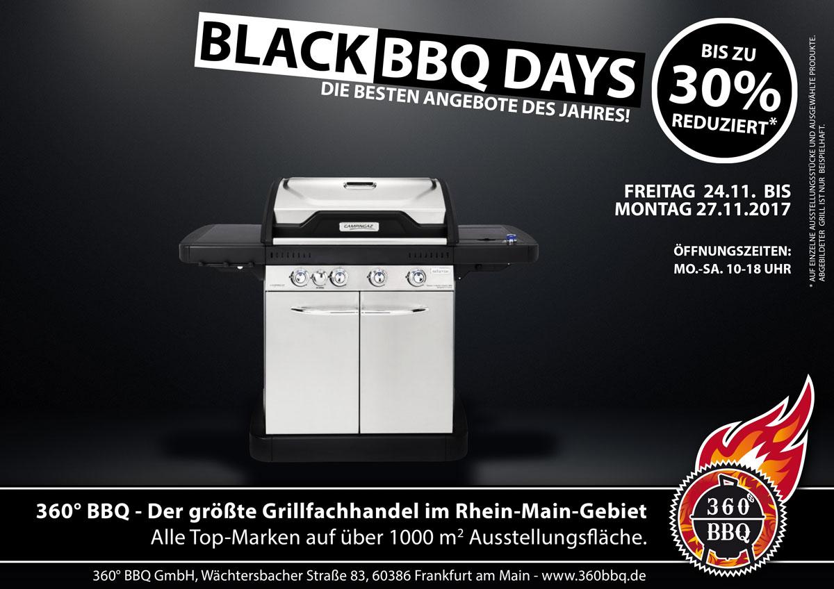 Black BBQ Days bei 360bbq World Frankfurt z.B. Broil King Monarch 390 für 675 € statt 899€