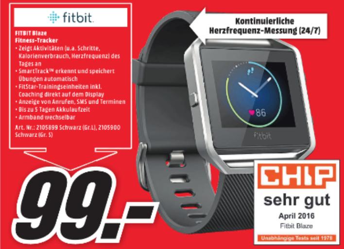 [Lokal Media Märkte Karlsfeld, München, Erding] Fitbit Blaze Fitness Tracker