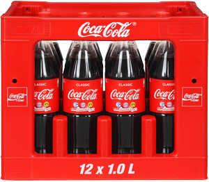 COCA-COLA, FANTA, SPRITE oder MEZZO MIX in 12er Kiste