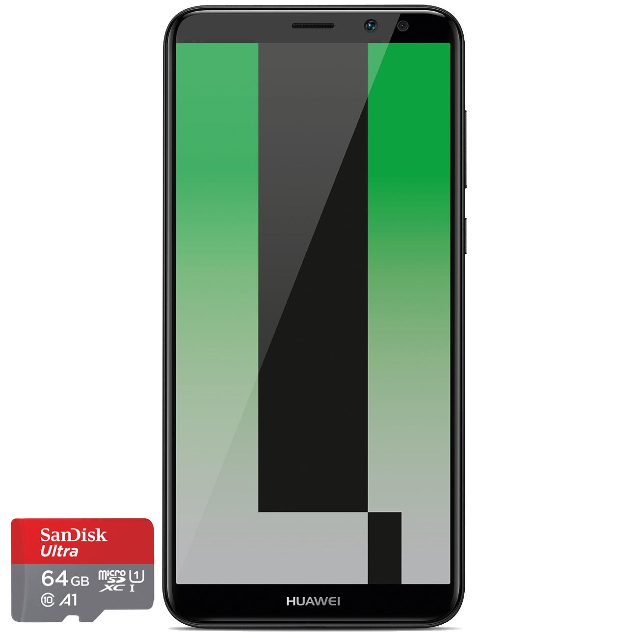 Huawei Mate 10 Lite Schwarz 64gb + MicroSD Karte für 296,65€