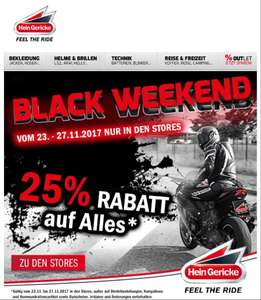 (Hein Gericke) Black Weekend 25% Rabatt auf alles