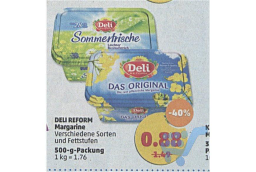 """[Penny] Deli Reform """"Das Original"""" Margarine für 0,88€ bei Scondoo 3x 0,50€ Cashback am Ende nur [0,38€]"""