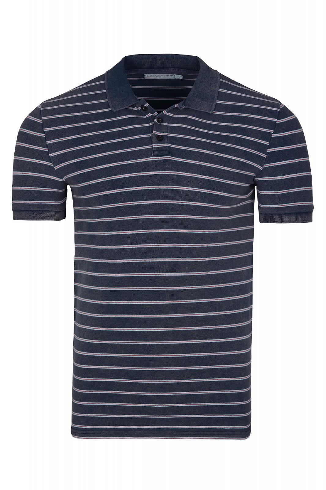 JUNKYARD Rob Herren Polo-Shirt Blau Polo-Hemd