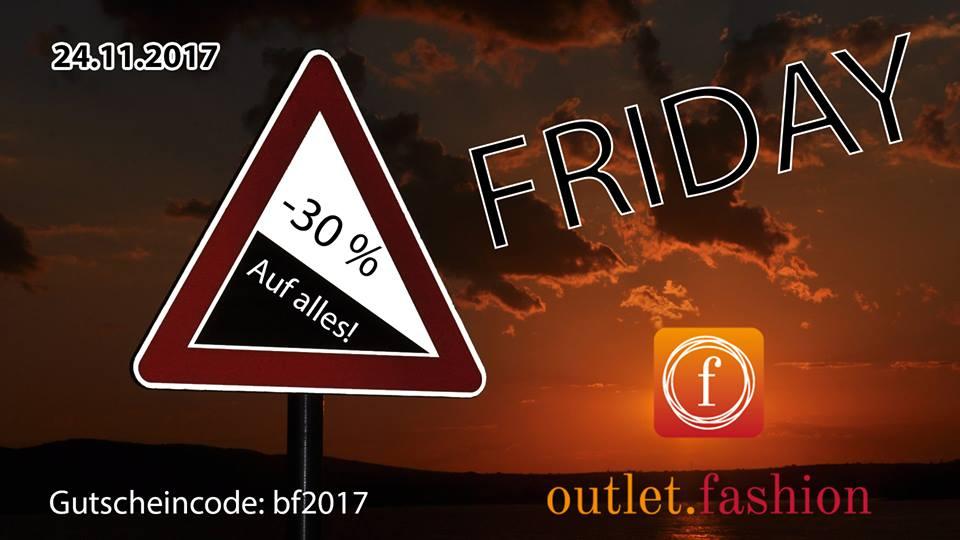 30% Rabatt auf alles am 24.11.2017 von 0-24 Uhr bei outlet.fashion