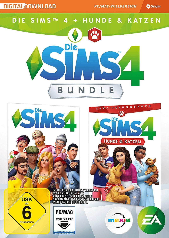 [Amazon.de] Die Sims 4 + Hunde & Katzen Bundle - PC / MAC - Code in a Box