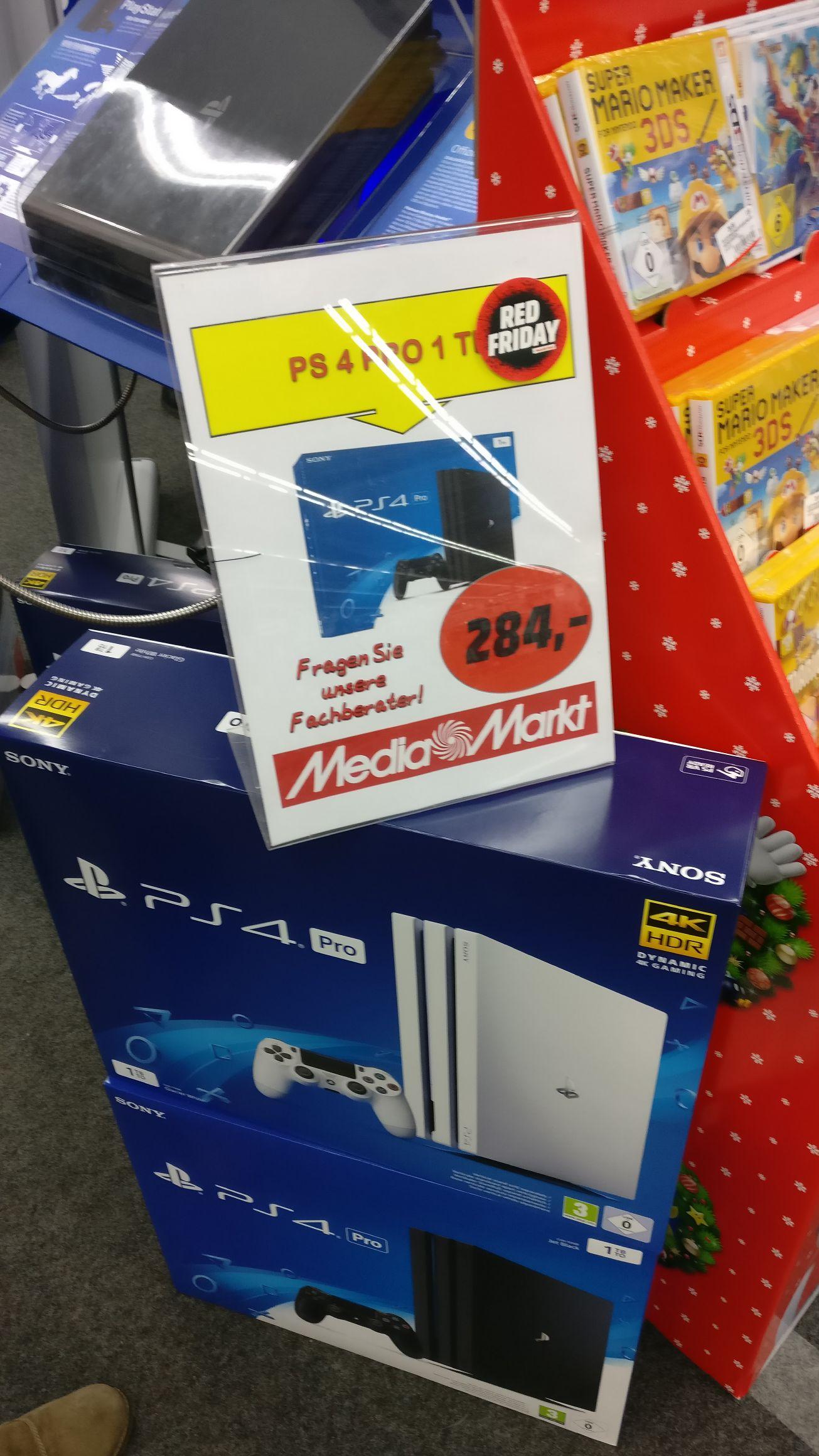 [Mediamarkt Dortmund] PS4 Pro weiß und schwarz für 284€ [RED FRIDAY]