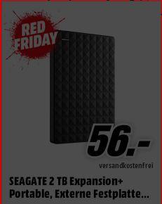 [Mediamarkt Red Friday] Seagate Expansion Portable 2TB (STEA2000400) FÜR 56;-€**Angebot ist Online**