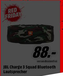 [Mediamarkt Red Friday] JBL Charge 3 Bluetooth Lautsprecher Squad FÜR 88,-€ Versandkostenfrei**Angebot ist Online**