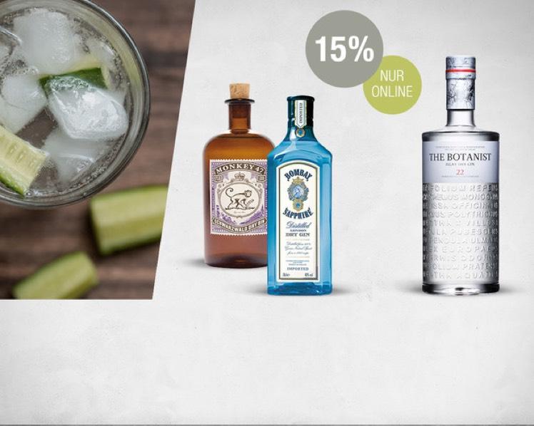 Galeria Kaufhof 17% auf ausgewählte Gin sorten