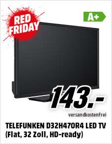 RedFriday TELEFUNKEN D32H470R4 LED TV (Flat, 32 Zoll, HD-ready)