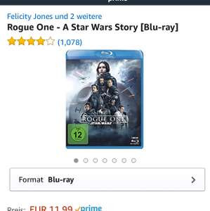 Rogue One - A Star Wars Story [Blu-ray] @amazon - 9,71€