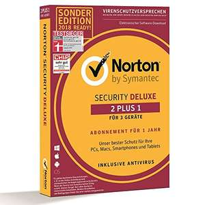 Norton Security Deluxe Sonderedition 2018 | 2+1 Geräte | PC/Mac/Smartphone/Tablet | Download