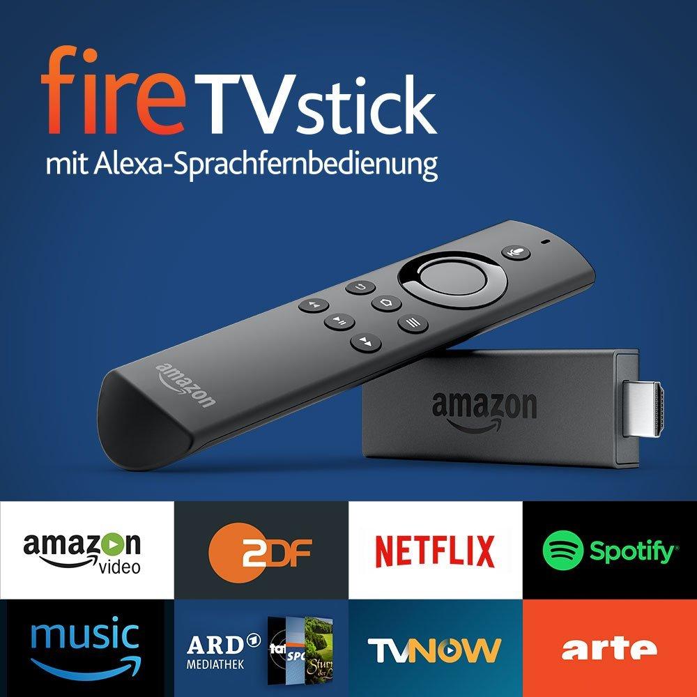Fire TV Stick mit Alexa-Sprachfernbedienung für 20€
