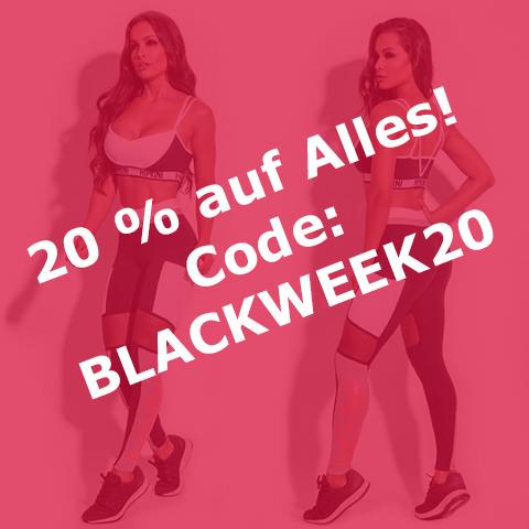 BLACKWEEK 20 % Rabatt auf Sportmode für Damen bis zum 26.11.2017