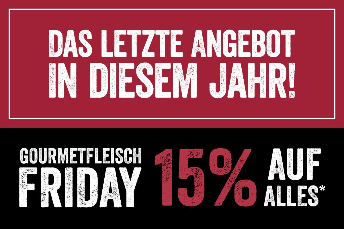 Black Sale bei Gourmetfleisch.de 15% auf alles!