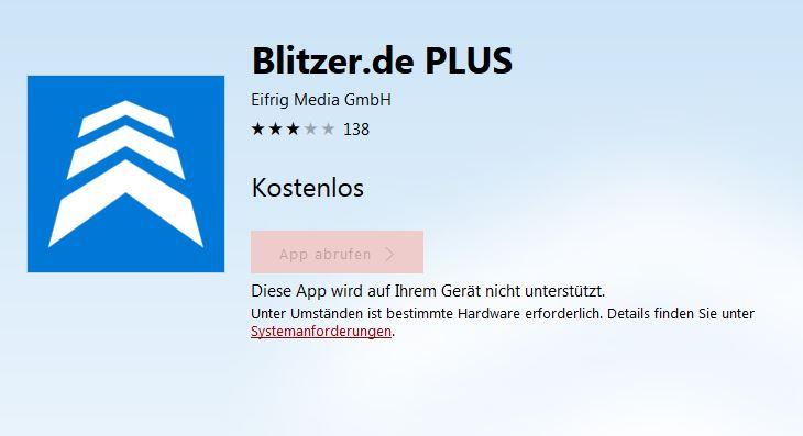 Blitzer.de PLUS Microsoft Mobile kostenlos